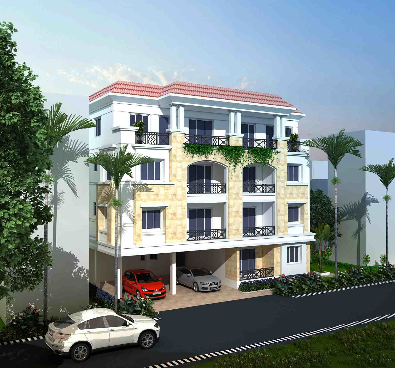 Residential Building Consultant : Residential building at deshpran sasmal road dimensions