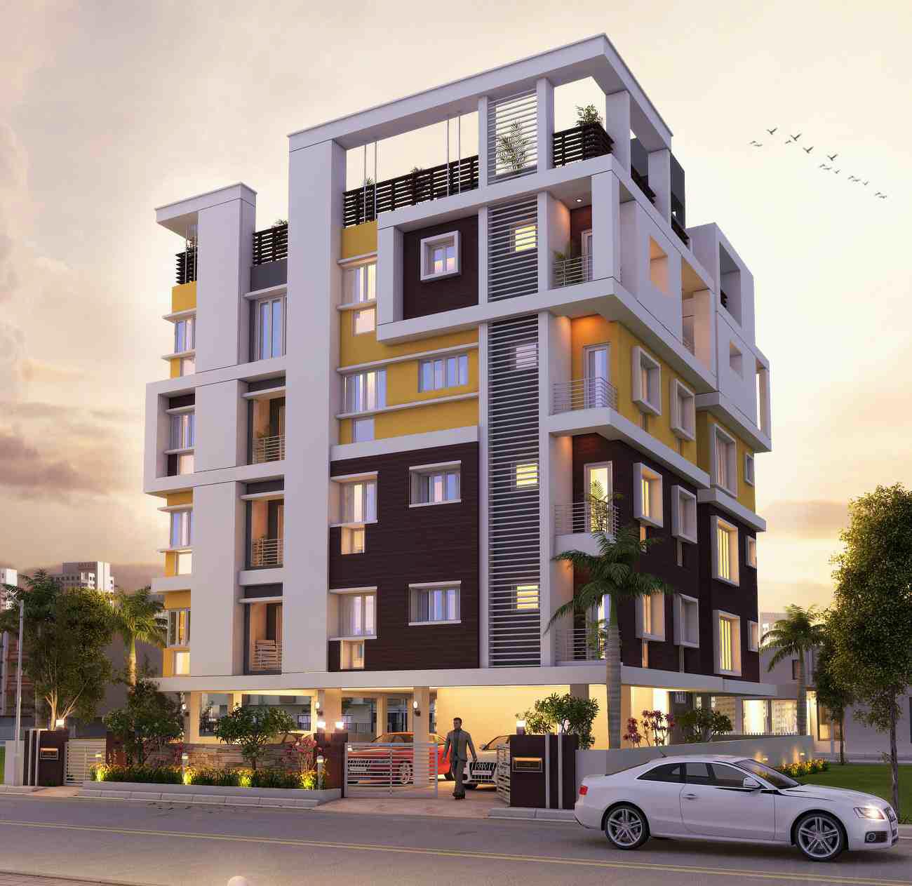 Types Of Apartment Buildings: Residential Building At Tarakeshwar
